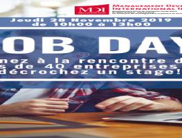 9ème édition du Job Day , Jeudi 28 novembre 2019