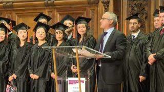 Cérémonie de remise des diplômes aux lauréats Algériens du MBA IP 2018 à la Sorbonne